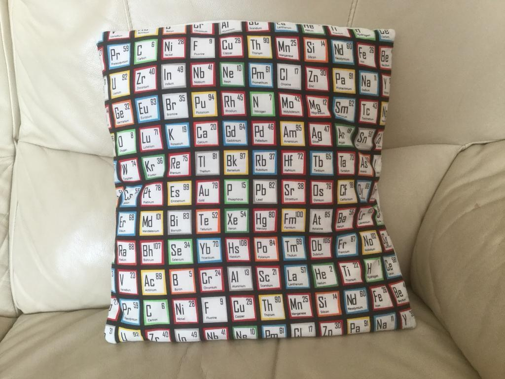 Single cushion displaying periodic table symbols in penwortham single cushion displaying periodic table symbols urtaz Image collections