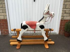 Muffin the Mule style wooden rocking horse