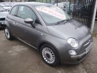 Stunning Fiat 500 Lounge,3 dr hatchback,FSH,full MOT,2 previous owners,2 keys,panoramic roof,38,000