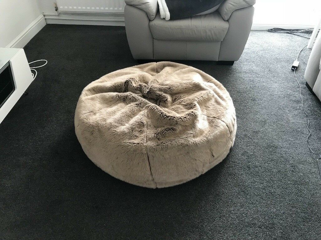 Awesome Icon Ottawa Faux Fur Bean Bag Mink In Sunderland Tyne And Wear Gumtree Machost Co Dining Chair Design Ideas Machostcouk