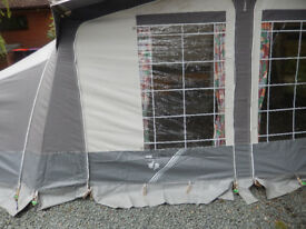 Caravan awning (Trio Caramba) with sleeping extension: 14' by 8'