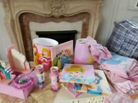 Disney princess bedroom bundle accessories