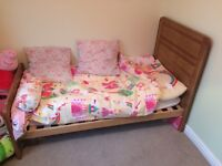 John Lewis wardrobe chest of drawers and cotbed