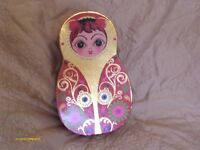 Unusual, Beautifully Decorated in Eye Catching Colours & Gold Russian Doll Shaped Boxes (6 of them)