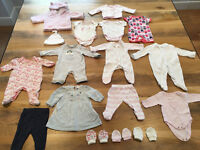 Newborn / Small Baby Girl Clothes Bundle - 17 items (inc. White Company, John Lewis)