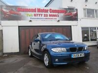 BMW 120d 5 DOOR IN BLUE 2006 GREAT CONDITION INSIDE AND OUT FULL LEATHER