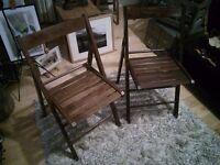 Vintage Folding Garden Chairs