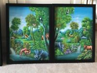Two Beautiful oil paintings for kids bedroom