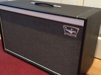 Tone King Majesty / Royalist 2x12 cab; open back, Eminence-made speakers