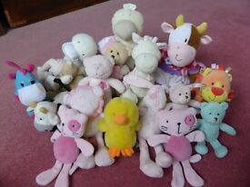 Lovely cute large bundle of small soft toys - suits 1-6 years