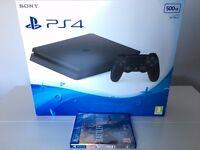 PS4 Slim + Battlefield 1 Bundle (and bonus £35.00 PS Store voucher) - Brand new unopened