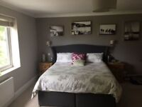 Super King Sized Bed, Dark Grey Headboard - Only 2 Years old