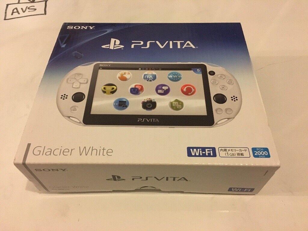 Sony Playstation PS Vita Glacier White inc 16GB memory card 3.60 Like New