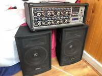 Power Dynamics PDM-C808A 8 Channel 800W MP3 & 400w speakers Mobile DJ