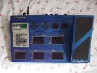 Digitech RP3 Electric Guitar Effects Pedal & mains PSU :- Chorus Grunge Distortion Delay Wah etc