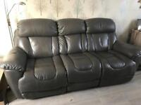 3 seater/2 seater all electric recliners leather sofa