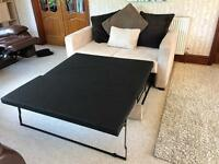 HOME New Apartment 2 Seater Fabric Sofa Bed - Natural RRP £299 Unused