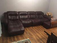 lovely genuine full lether sofas £150!!!! ( pls read the description)