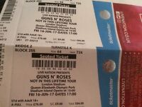A pair of guns n Roses Tickets, £170 for the pair