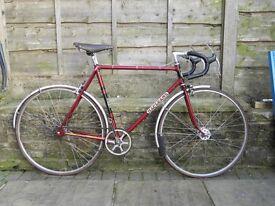 Macleans 1961 road and path bike - EKLA lugs - track fixed gear wheel retro classic fixie