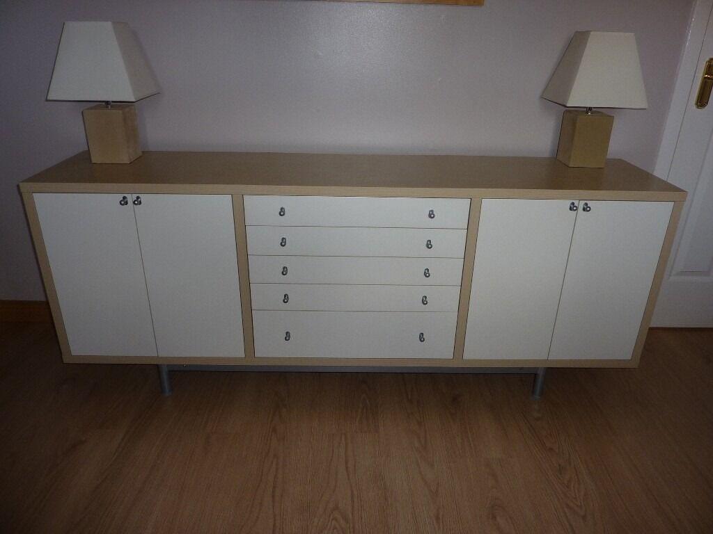 ikea magiker sideboard in birch & white plus matching lamps sold, Gestaltungsideen