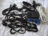 various quality tv scart sockets & normal tv male & female leads & other leads,stanmore,middlesex...
