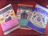3 x BOOKS BY LOUIS DE BERNIERES - EXCELLENT CONDITION