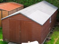 Large Wooden Shed/Workshop - approx. 20ft x 10ft