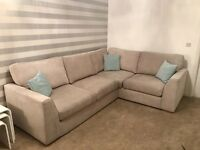 Nearly brand new DFS corner sofa and chair - perfect condition!