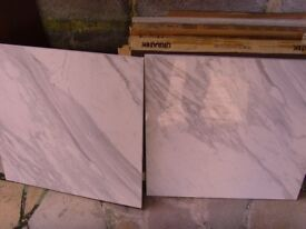 £115 only for NICE Marble effect floor tiles,shine finish.600mm x 600mm x 11mm !!!