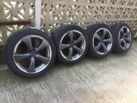 4 alloys and tyres to fit Lexus 400