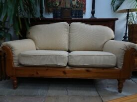 DUCAL TWO SEATER SETTEE 1550 mm wide BRIANZA BISCUIT Fabric