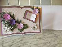 Handmade Bookatrix Flower Corner Birthday Card