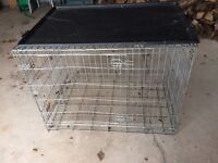 Extra large dog cage with bottom tray
