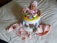 Baby Annabel Doll with Baby Walker bottle and musical blanket