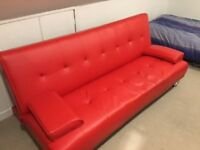 Sofa bed (red)