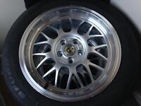 "7x16"" Cades Ero's Silver Alloy Wheels"