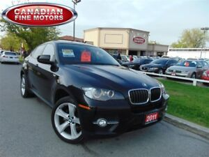 2011 BMW X6 BROWN LEATHER-SPORT PKG-NAVI-HUD