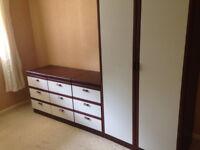 Single wardrobe and three sets of matching drawers