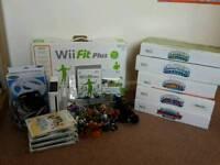Massive Nintendo Wii Bundle Skylanders and wii fit