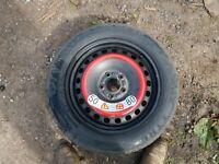 jaguar xtype space saver wheel and tyre
