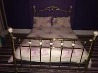 Gold double bed