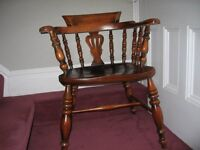 Solid Hardwood Captain's Chair