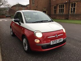 2012 FIAT 500 1.2 PETROL LIMITED EDITION WHITE OVER RED