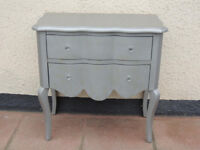 Grey Chest of Drawers Curved design (Delivery)