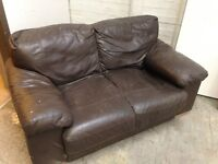 2 seater leather sofa. FREE
