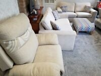 *** A Pair of THREE seater sofas/Foot Stool/Matching Recliner in very good condition for Sale**