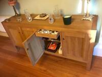 Solid oak side board great storage 2m was £1240
