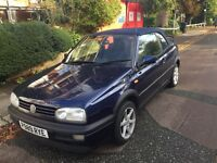 VW GOLF CABRIOLET. CAR STARTS FIRST TIME AND DRIVES WELL. NEEDS A FEW SMALL JOBS DOING HENCE PRICE