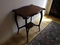 Antique Hall / Telephone table - poss Georgian- Walnut - 60 x46 x74